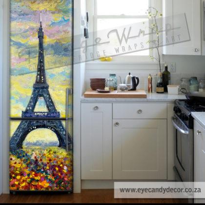 Impressionist Paris Fridge Wrap